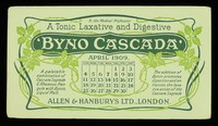 view Byno-Cascada : a tonic laxative and digestive : April 1909.