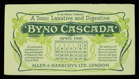 view Byno-Cascada : a tonic laxative and digestive : April 1910.