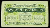 view Byno-Phosphates : a nutritive and digestive tonic for delicate and anaemic children : July 1910.