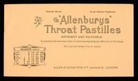 view The 'Allenburys' throat pastilles : efficient and palatable : March 1911.