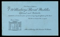 view The 'Allenburys' throat pastilles : efficient and palatable : September 1914.