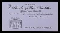 view The 'Allenburys' throat pastilles : efficient and palatable : March 1915.