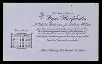 view 'Byno' Phosphates : a valuable restorative for delicate children : July 1915.