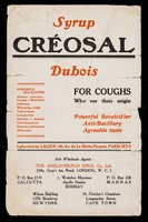 view Syrup Créosal Dubois : for coughs whatever their origin.
