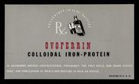 view Ovoferrin colloidal iron-protein.