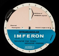 view Intramuscular Imferon calculated iron intake - calculated response.
