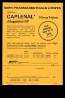view Berk Pharmaceuticals Limited introduce Caplenal Allopurinol BP 100mg tablets.