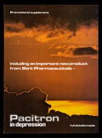 view Promotional supplement including an important new product from Berk Pharmaceuticals - Pacitron in depression full details inside.