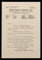 "view British Felsol Company, Ltd. ""Wigton House,"" 206/212, St. John Street, Clerkenwell, London, EC1."