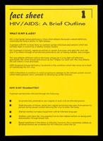 view Fact sheet. 1, HIV/AIDS: a brief outline / Michele Oliver, Lewisham HIV Unit.