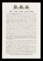 view THT : the AIDS gestapo / Gays Against Genocide.