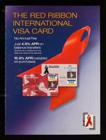 view The Red Ribbon International Visa card : no annual fee, just 4.9% APR on balance transfers / MBNA International.