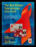 view The Red Ribbon International Visa card : our lowest rate ever for you and a great help to us : 2.9% APR balance transfer rate (fixed for 6 months) / MBNA International.