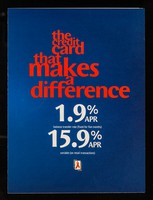 view The credit card that makes a difference : 1.9% APR balance transfer rate (fixed for 6 months) / MBNA International.