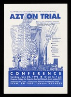 view AZT on trial : an all day conference exposing the practices in the development, licensing and prescription of AZT / SCAM.