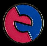 view [Circular Taking Care campaign symbol pin badge].