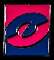view [Rectangular Taking Care campaign symbol pin badge].