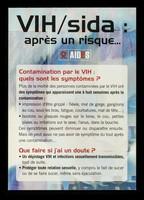 view VIH/sida : après un risque... : contamination par le VIH: quels sont les symptômes? / AIDES.