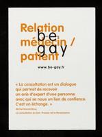 view Relations médecin / patient : be gay : bien être / Crips Île-de-France.