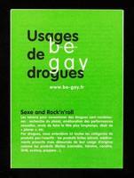 view Usage de drogues : be gay : bien être / Crips Île-de-France.