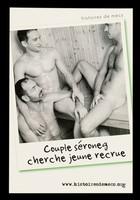 view Histoires de mecs : Couple séroneg cherche jeune recrue / SNEG, prévention, IPSR ; Pascal d'Ameyal [photography].