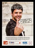 view Voici ton nouveau allié pour te faire dépister en 30 minutes! / AIDES, Croix-rouge Française, SNEG, Mairie Quatre Paris.
