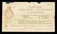 view 'Tabloid' 'Empirin' Compound with Codeine.