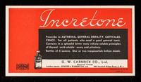 view Incretone : prescribe in asthenia, general debility, convalescence ...