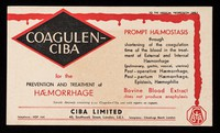 view Coagulen-Ciba : for the prevention and treatment of haemorrhage.