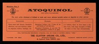 view Atoquinol (allyl phenylcinchoninester) : the most active eliminant of irritant or toxic acid waste without harmful action on digestive or other systems.