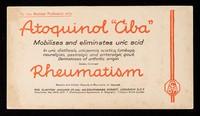 """view Atoquinol """"Ciba"""" : mobilises and eliminates uric acid."""