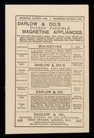 view Darlow & Co.'s patent flexible magnetine appliances.