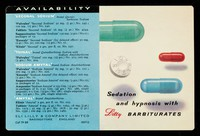 view Sedation and hypnosis with Lilly barbiturates.