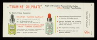 view 'Tuamine Sulphate' : rapid and sustained vasoconstricting action without secondary vasodilatation.