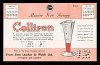 view Massive iron therapy : Colliron : a palatable preparation containing 10 per cent of iron in the form of colloidal iron hydroxide.
