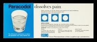 view Paracodol : dissolves pain.