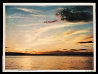 view Taoryl the anti-tussive in tablet form : sunset on the Lake of Zug (Switzerland).
