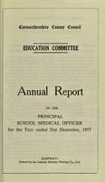view [Report 1957] / Schools Dept., Carmarthenshire County Council.