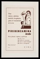 view Una nueva y efectiva medida terapéutica para el tratamiento de la tos : Piribenzamina jarabe ... / CIBA.