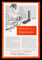 """view Terapia eficaz en la hipertensión ... Panlittol """"Armour""""... : Alimentando la sangre y el sistema nervoso ... Meduphites Glanules / The Armour Laboratories."""