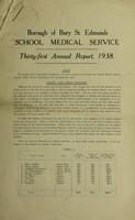 view [Report 1938] / Schools Medical Service, Bury St Edmunds.