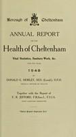 view [Report 1948] / Medical Officer of Health, Cheltenham Borough.