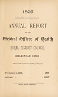 view [Report 1895] / Medical Officer of Health, Cheltenham (Union) R.D.C.