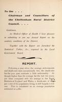 view [Report 1909] / Medical Officer of Health, Cheltenham (Union) R.D.C.