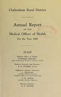 view [Report 1945] / Medical Officer of Health, Cheltenham (Union) R.D.C.