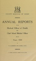 view [Report 1948] / Medical Officer of Health, Derby County Borough.