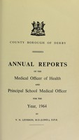 view [Report 1964] / Medical Officer of Health, Derby County Borough.