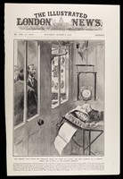 view The illustrated London news, no. 3720, vol. CXXXVII Saturday, August 6, 1910 : The cabinet that saves the operator from the evils of x-rays: the King looking at a patient under the x-rays at the London Hospital / drawn by S. Begg.
