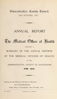 view [Report 1910] / Medical Officer of Health, Gloucestershire County Council.
