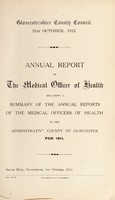 view [Report 1911] / Medical Officer of Health, Gloucestershire County Council.